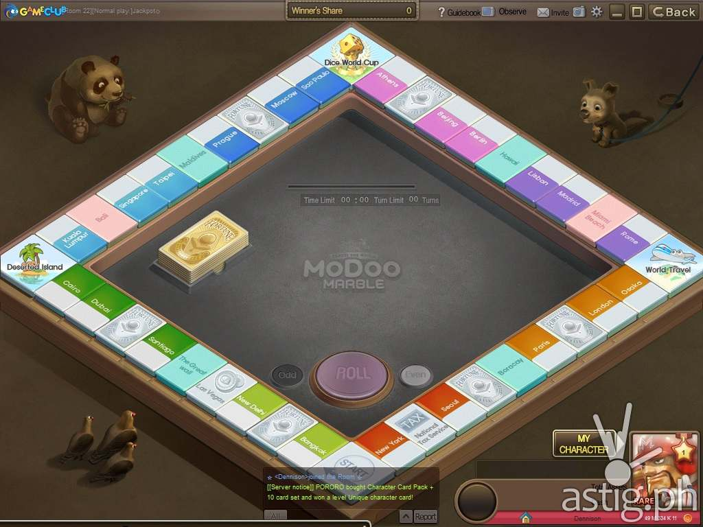 Check out the Modoo Marble game board: that's Boracay right beside Paris!