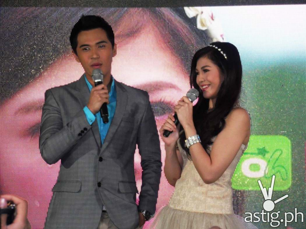"Janella Salvador and Marlo Mortel at the grand presscon of ""Oh My G!"""