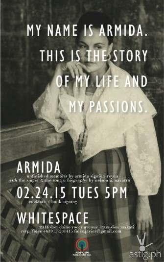 Armida Siguion-Reyna biography book launch today