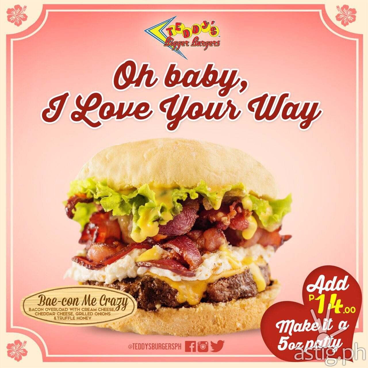 Bae Con Me Crazy Teddy's Bigger Burgers