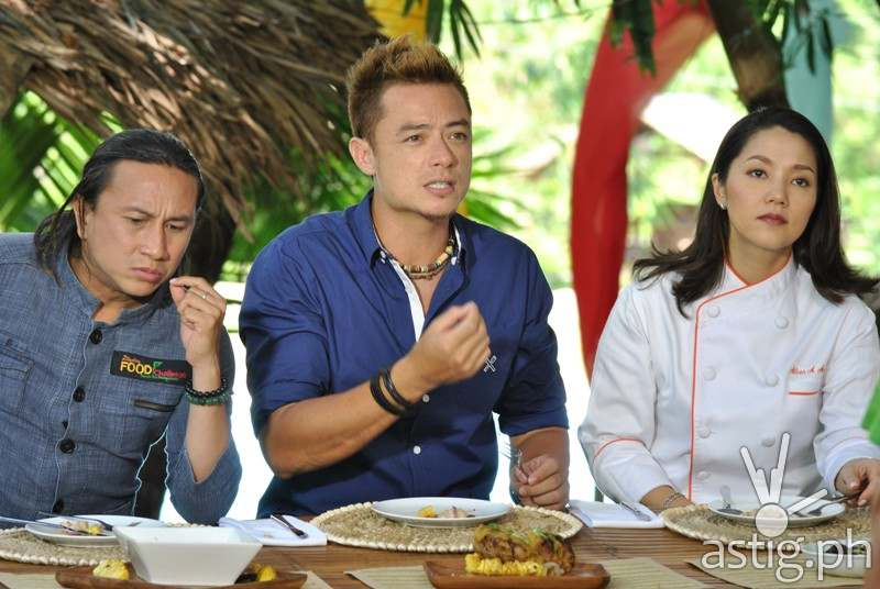 The Judges: Chef Rolando Laudico, Sherson Lian, Guest Judge Aileen Anastacio