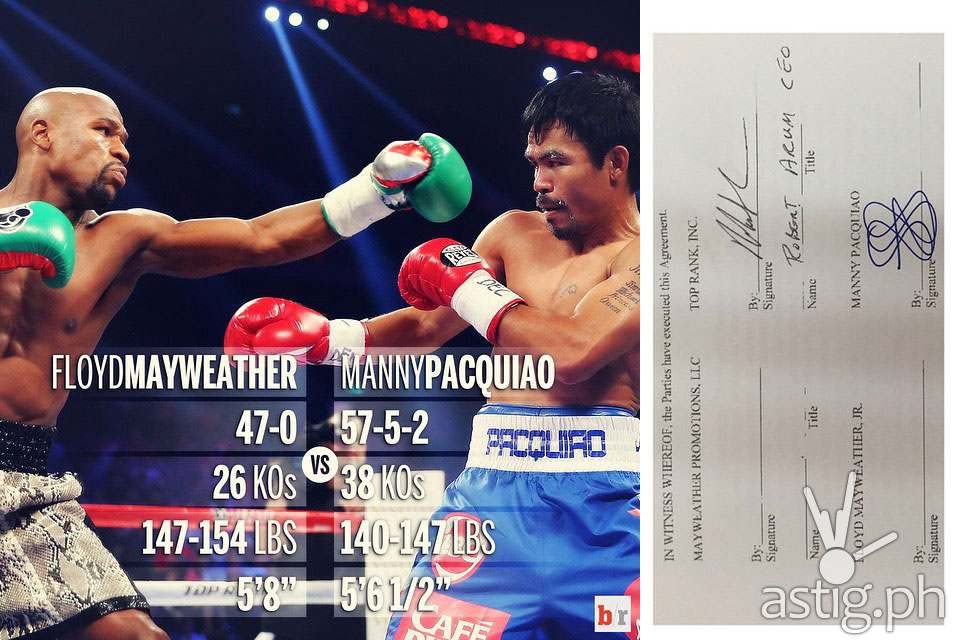 Mayweather vs Pacquiao signed contract