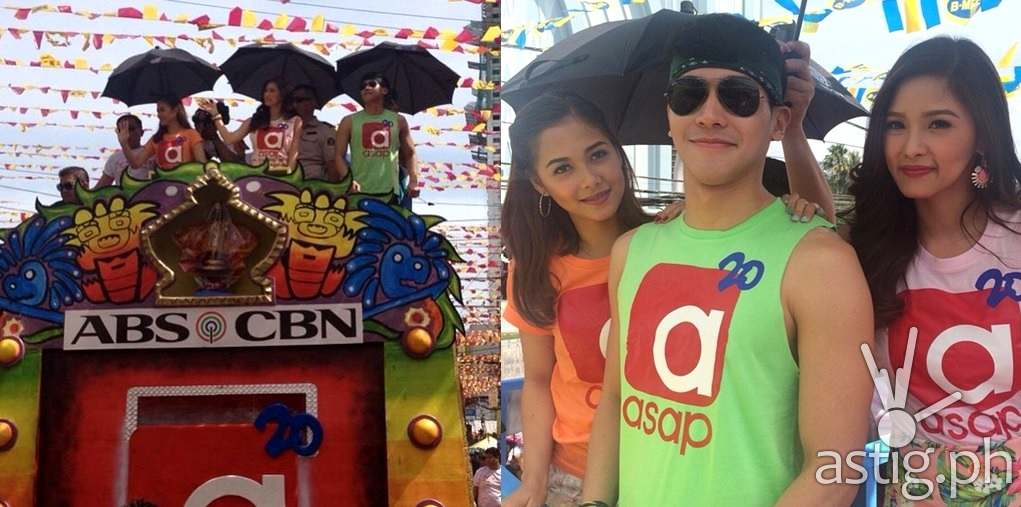Kim Chiu Maja Salvador and Enchong Dee during the Sinulog Float Parade in Cebu