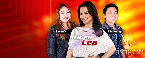 Team Lea's top 2 artists Lea Patricio and Timmy Pavino