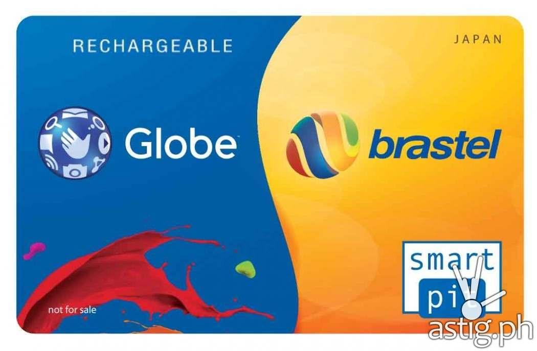 Globe Brastel reloadable calling card