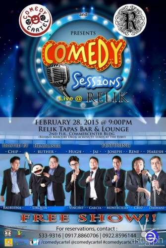 Free show: Comedy Cartel's Comedy Sessions in BGC this Saturday