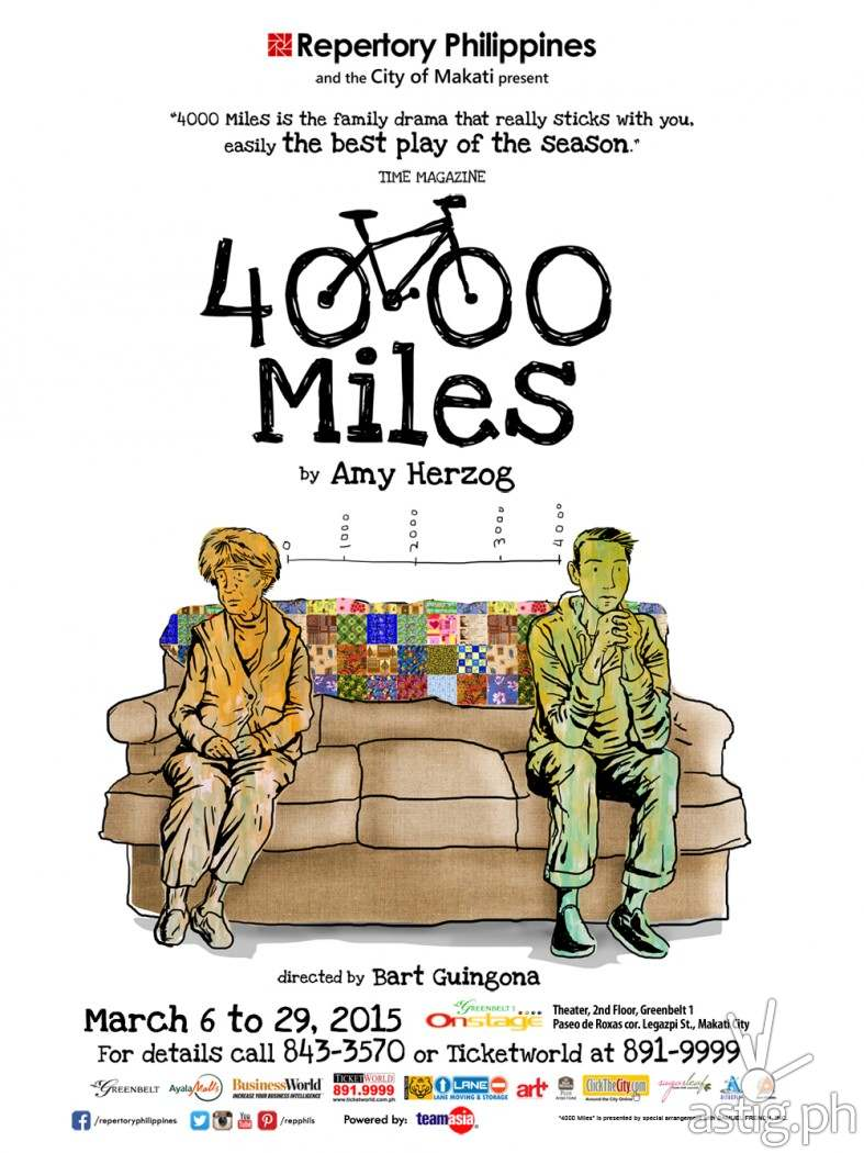 4,000 Miles by Repertory Philippines poster