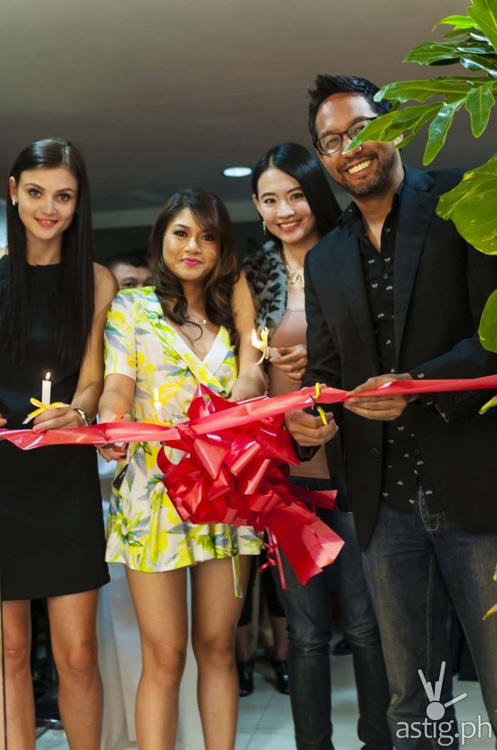 Inna Gavrylenko, Klarisse Yu Tabao, Janice Hung, and Paolo Bediones at the grand opening of The Eyebrowdery in San Juan