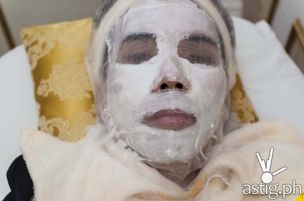Organic facial mask made from seaweeds at Luminisce