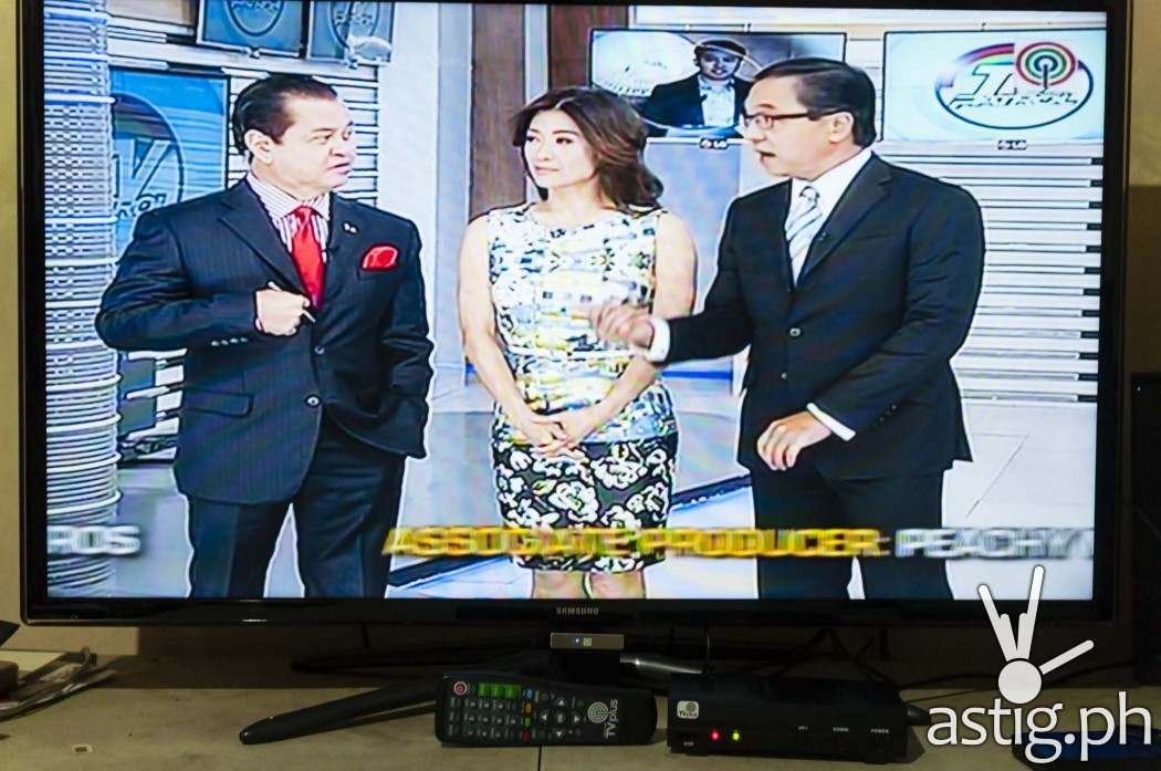 TV Patrol on ABS-CBN TVplus using a Samsung HD television