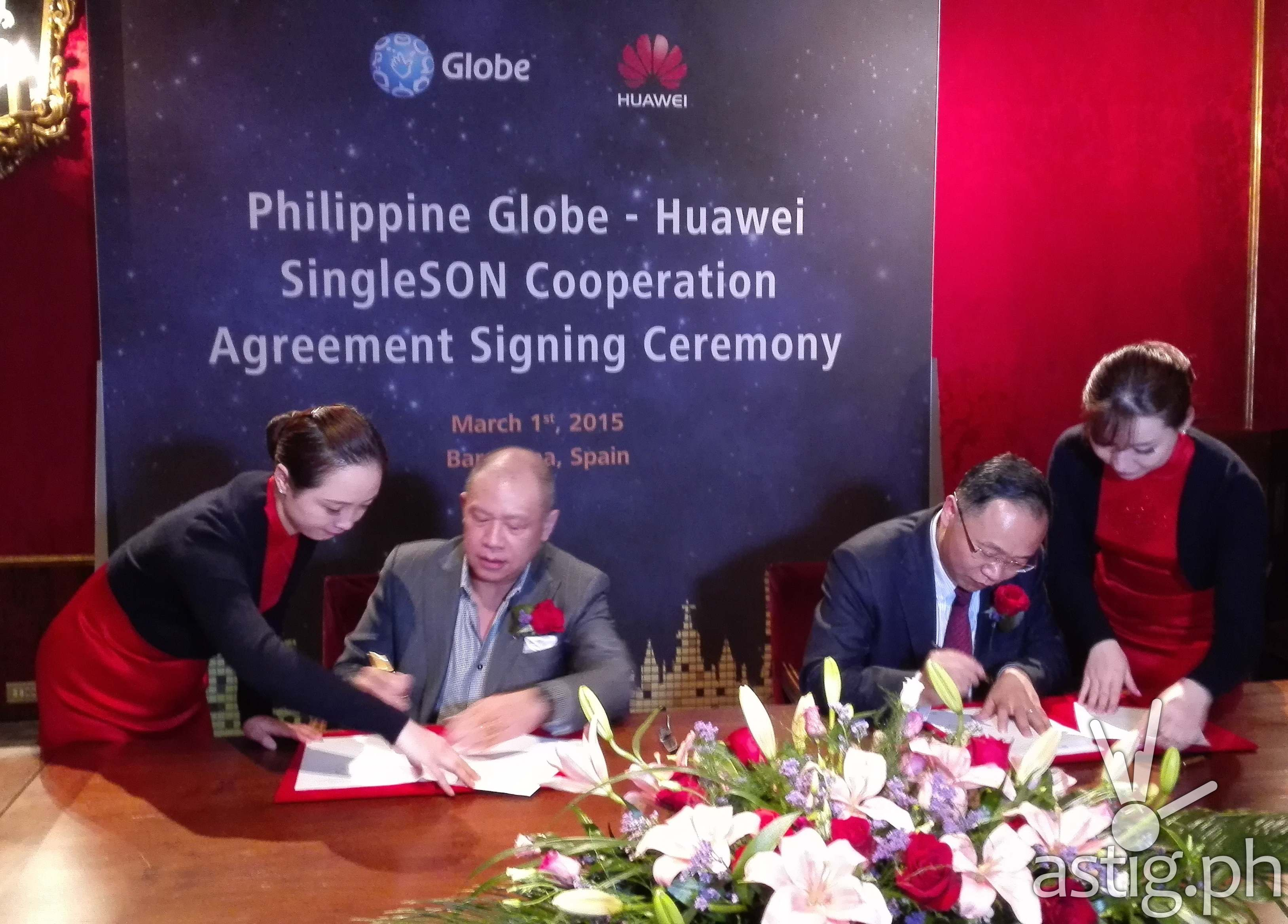 Globe - Huawei SingleSON signing ceremony