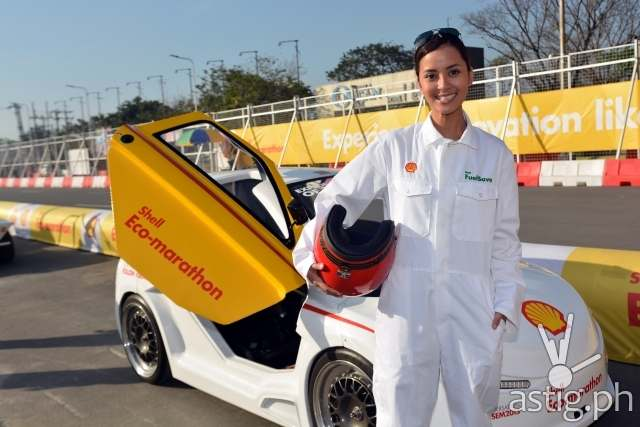 Bianca Gonzalez with Shell Urban Concept Car