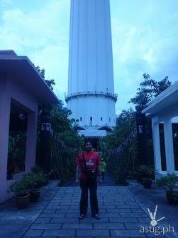 In front of the KL Tower