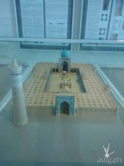 A replica of a famous mosque in the Islamic Arts Museum. A dozen other replicas are displayed here.