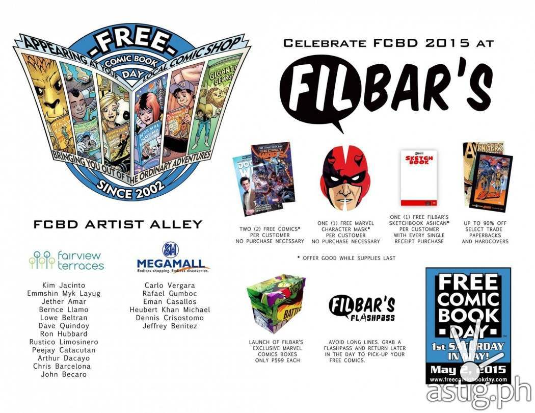Filbar's Free Comic Book Day 2015 FCBD