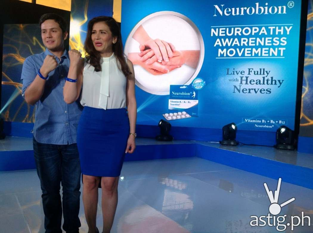 Direk Paul Soriano and Actress Zsa Zsa Padilla on Neurobion's Healthy Nerves launching event