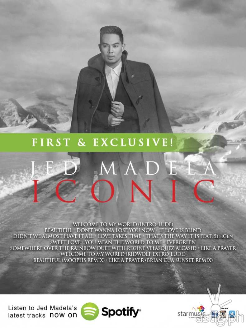 Jed Madela - Iconic Spotify poster