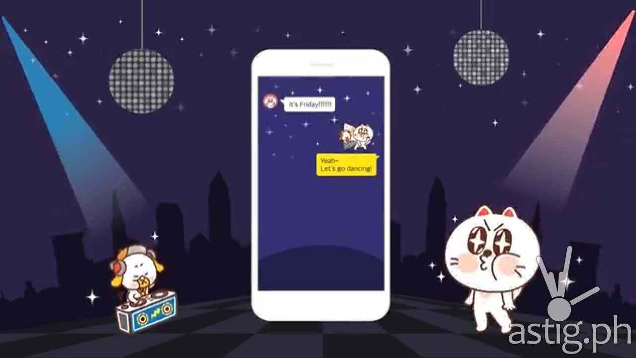KakaoTalk Action-con emoticons