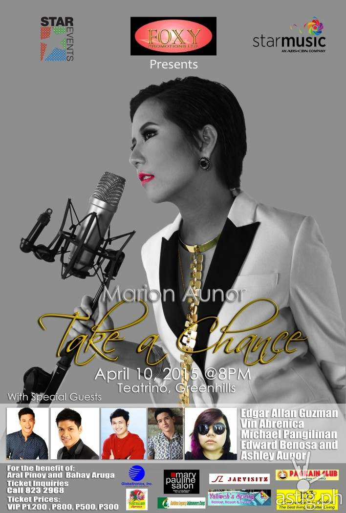 Marion Aunor concert poster