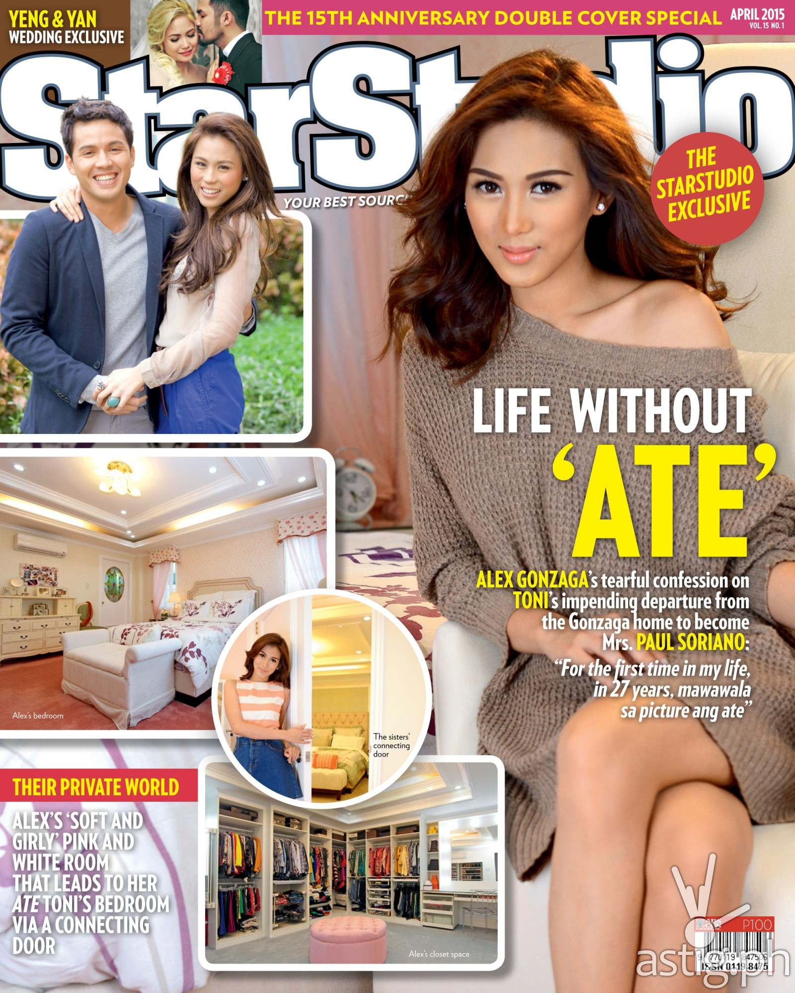 Alex Gonzaga Toni Gonzaga wedding Star Studio magazine April 2015 cover