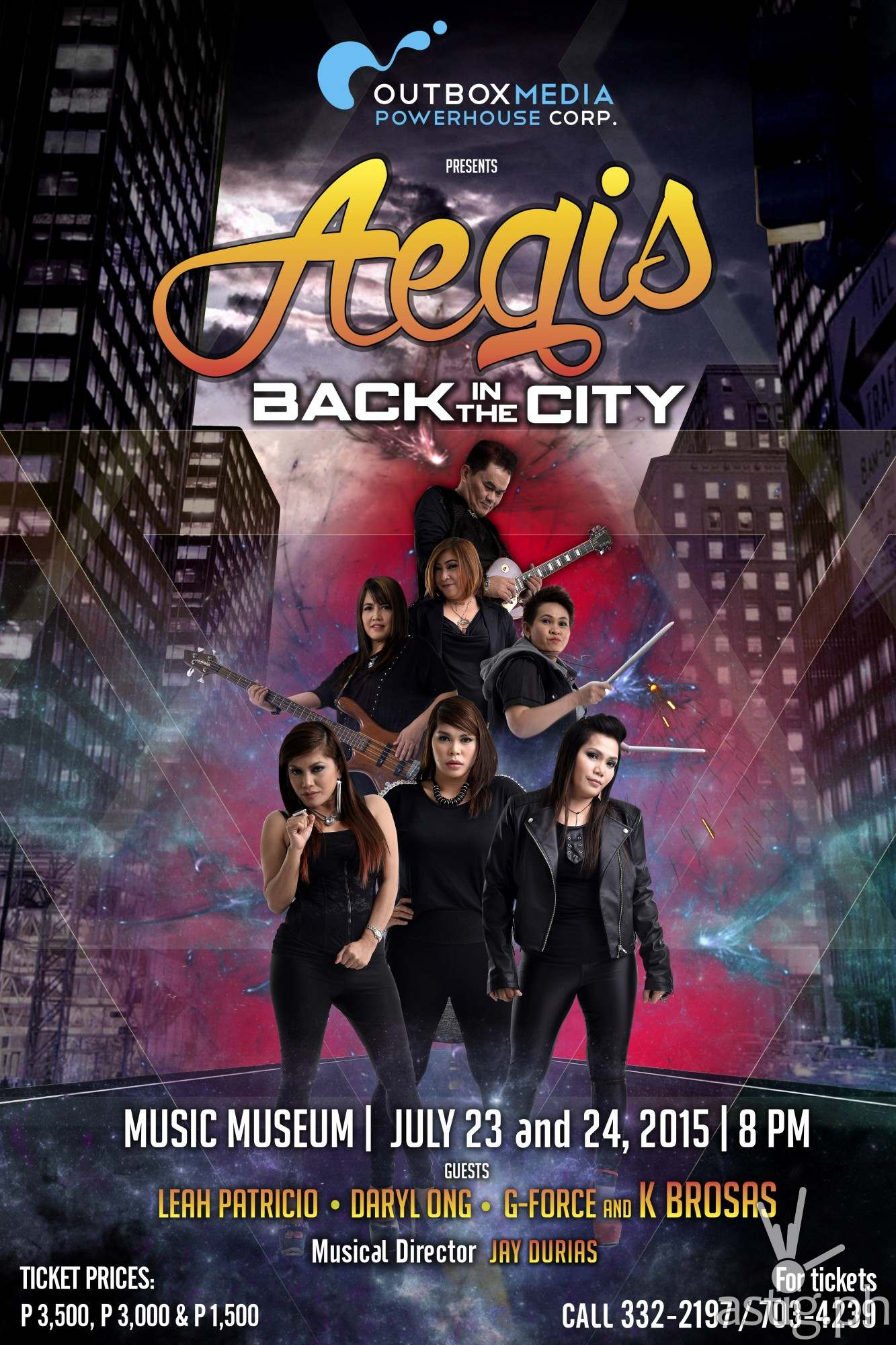 AEGIS Back in the City poster