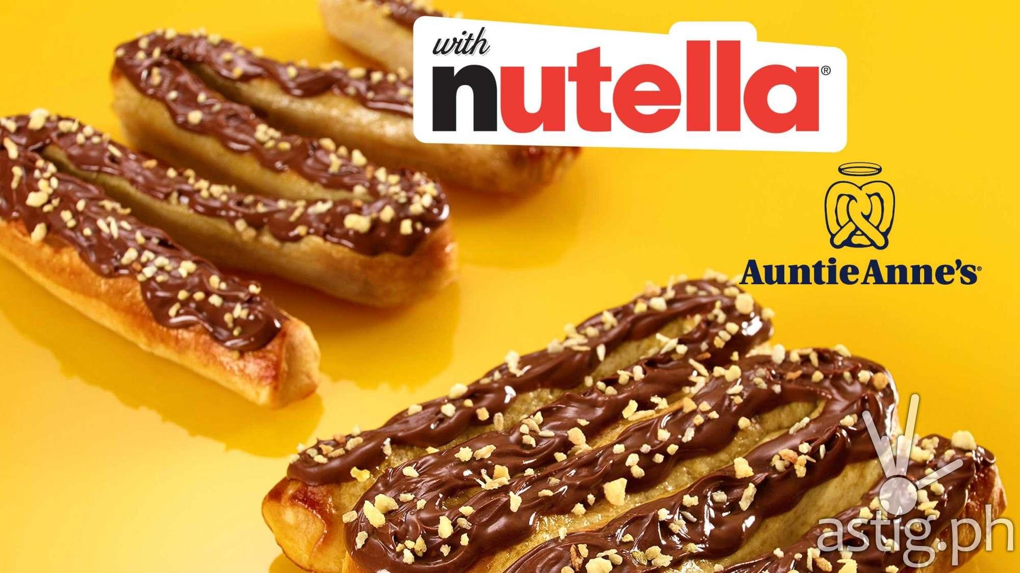 Auntie Anne's Nutella pretzel