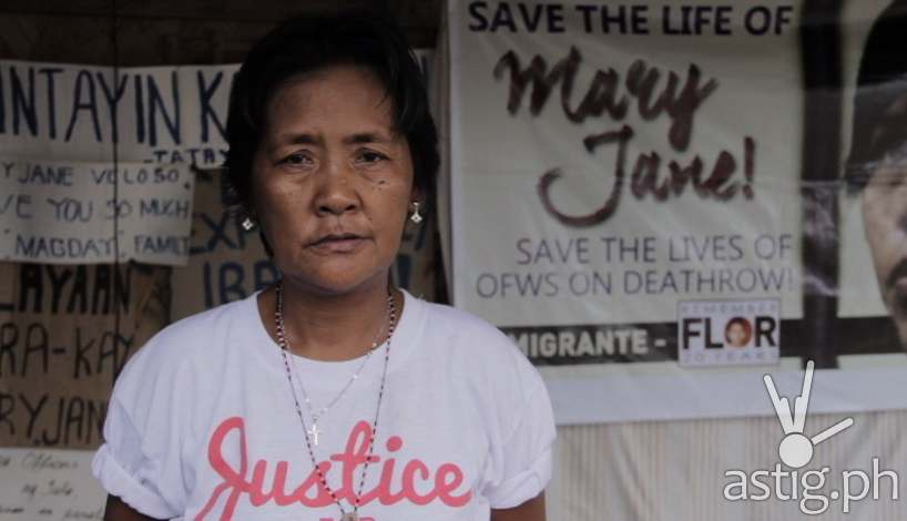Celia Veloso, mother of Mary Jane Veloso in Tapatan ni Tunying