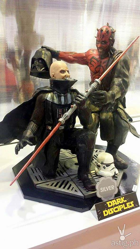 Dark Disciples: An edible Darth Vader and Darth Maul in chocolate form!