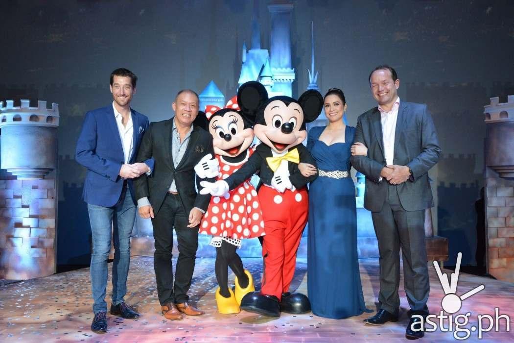 Disney with Globe Telecom execs and Lea Salonga