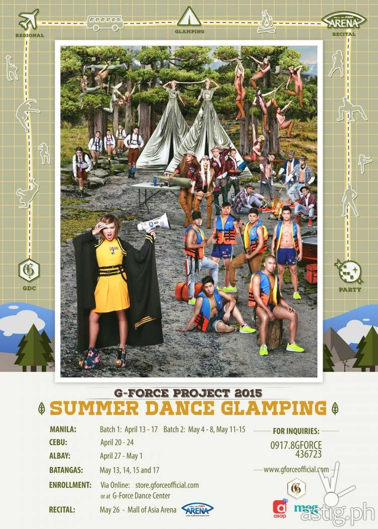 G Force Project 2015 summer glamping poster