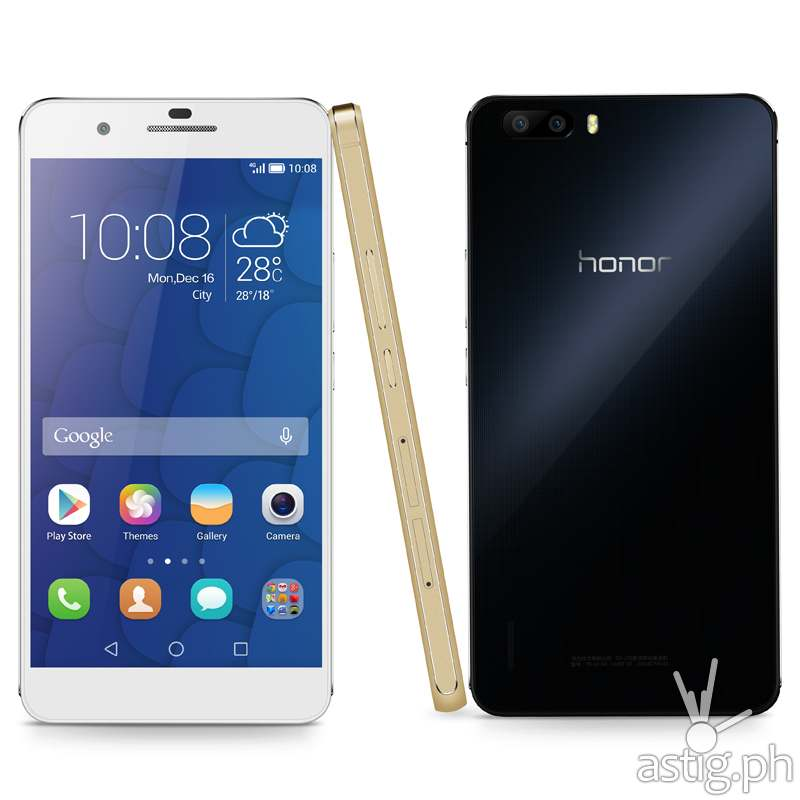 Huawei Honor 6 Plus front side and back photo