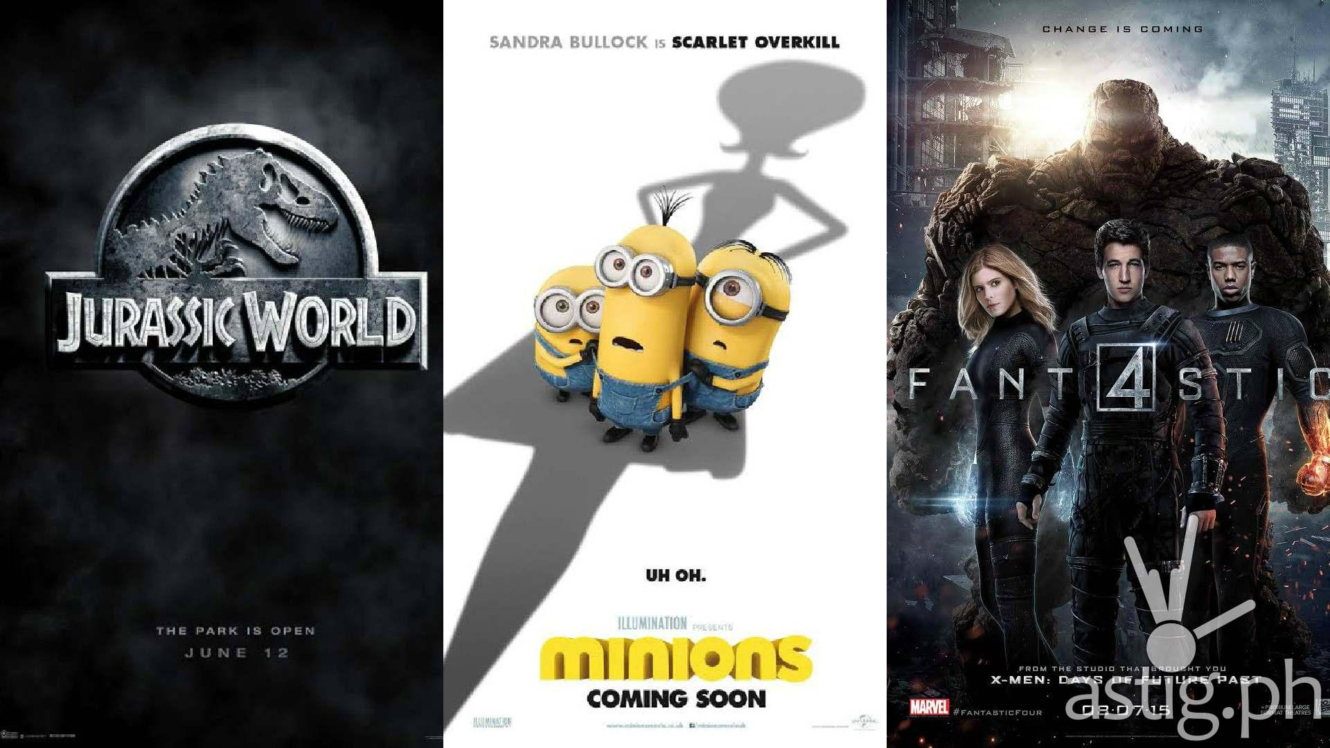 Jurassic World Minions Fantastic Four movie