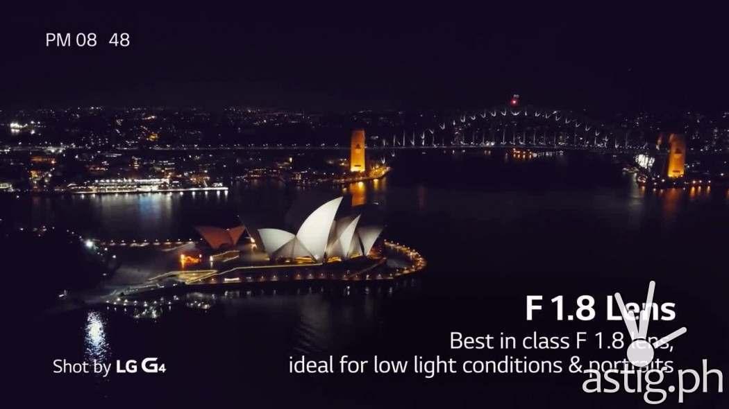 LG G4 F 1.8 lens