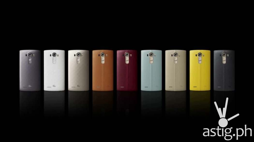 LG G4 back cover plastic and leather color options