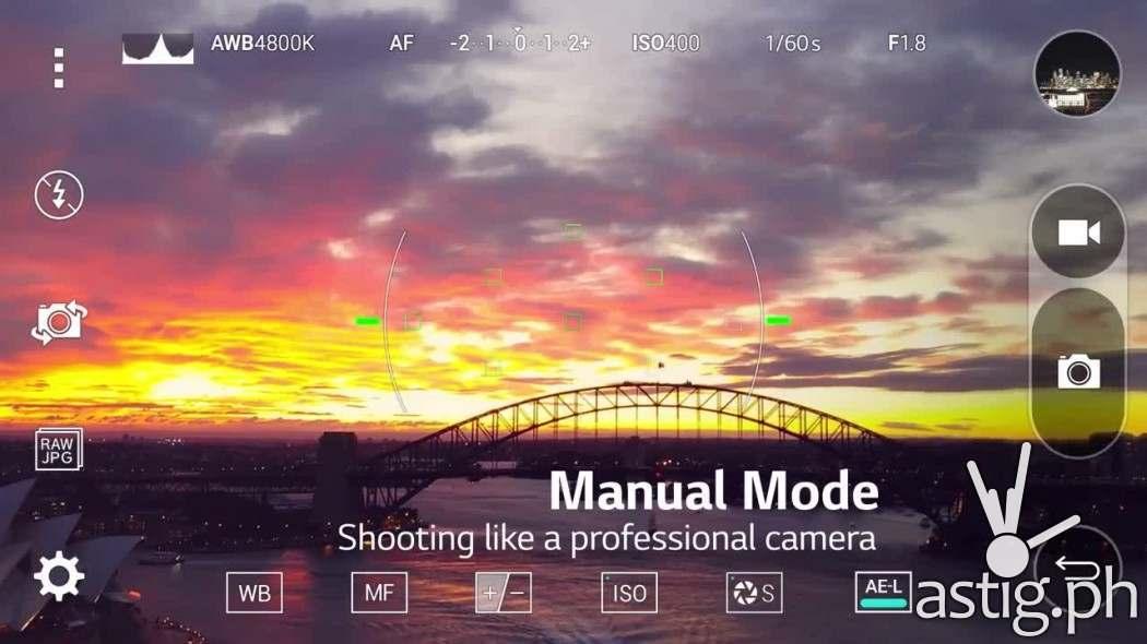 LG G4 camera manual mode