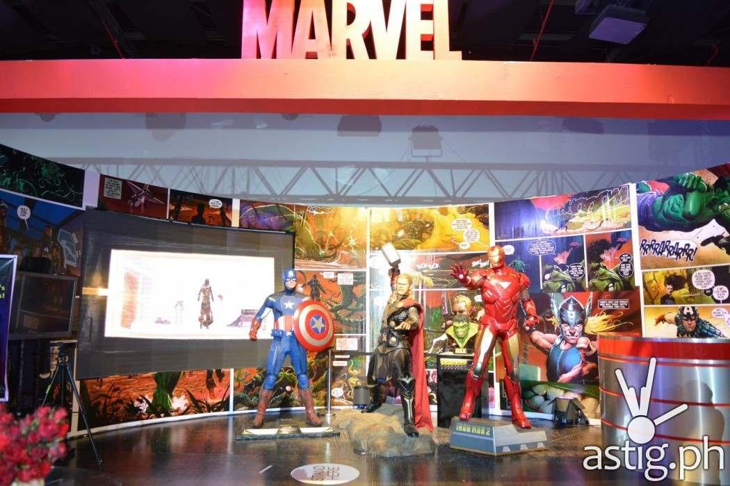 Marvel kiosk at the Disney - Globe event