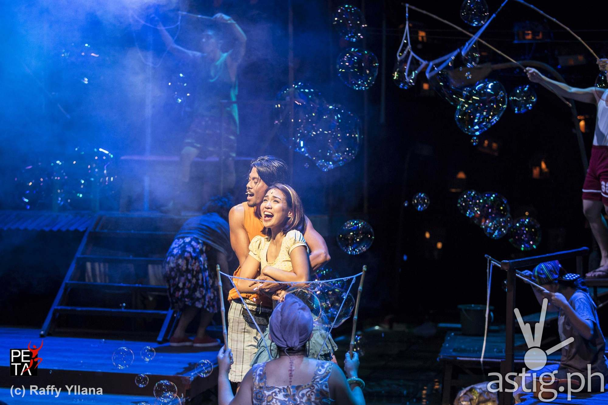Aicelle Santos (Aileen) and Jerald Napoles (Tolits) in Rak of Aegis by PETA Theater