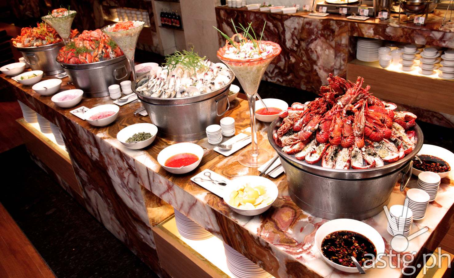 Seafood Choices at Marriott Cafe