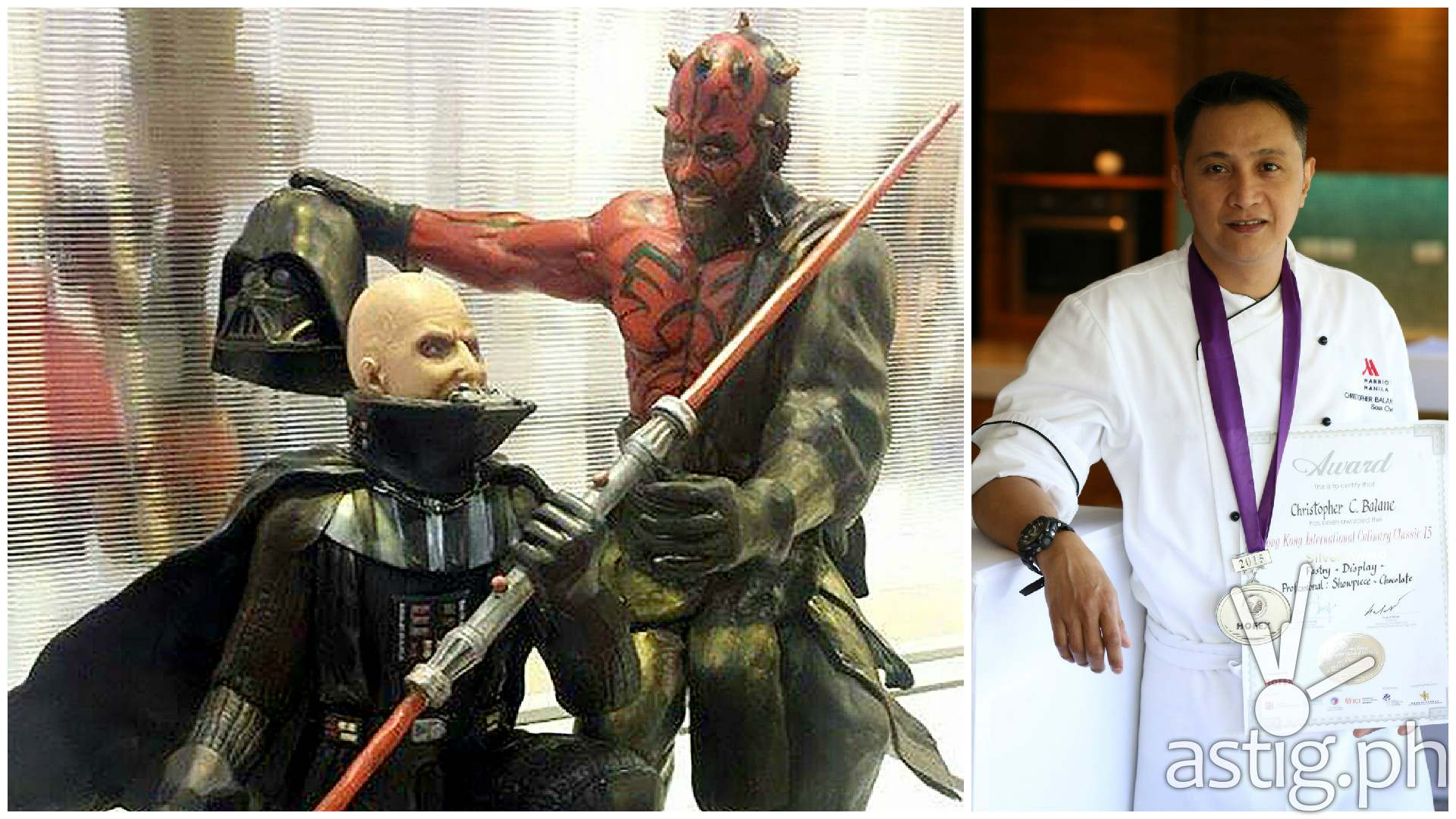 Star Wars chocolate by Chef Christopher Balane