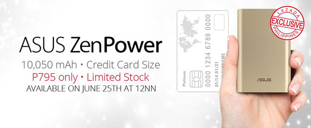 ASUS ZenPower Credit Card Size Sale at Lazada