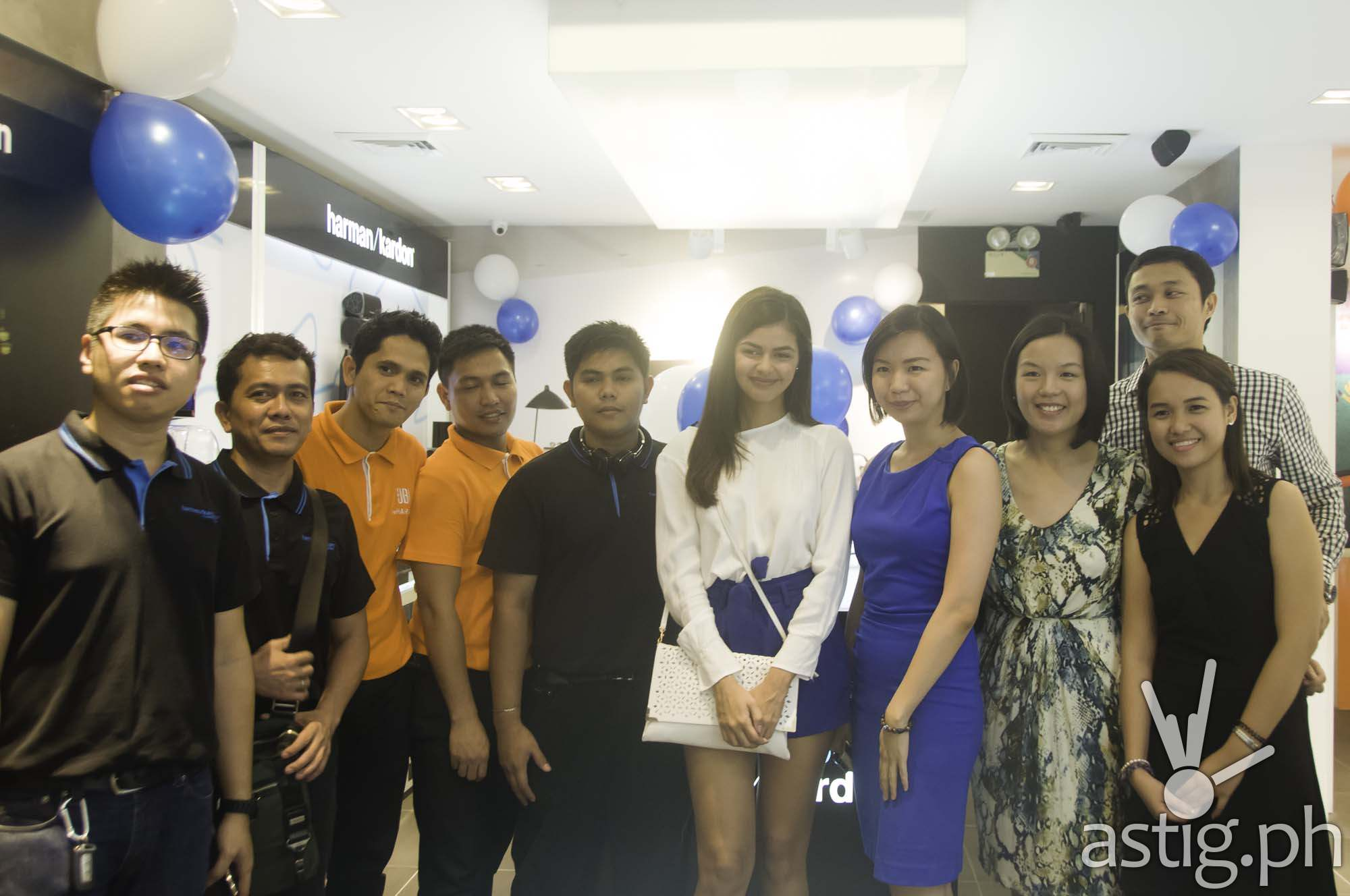 Jeanine Gutierrez at the JBL Harman Kardon opening at Ayala Fairview Terraces