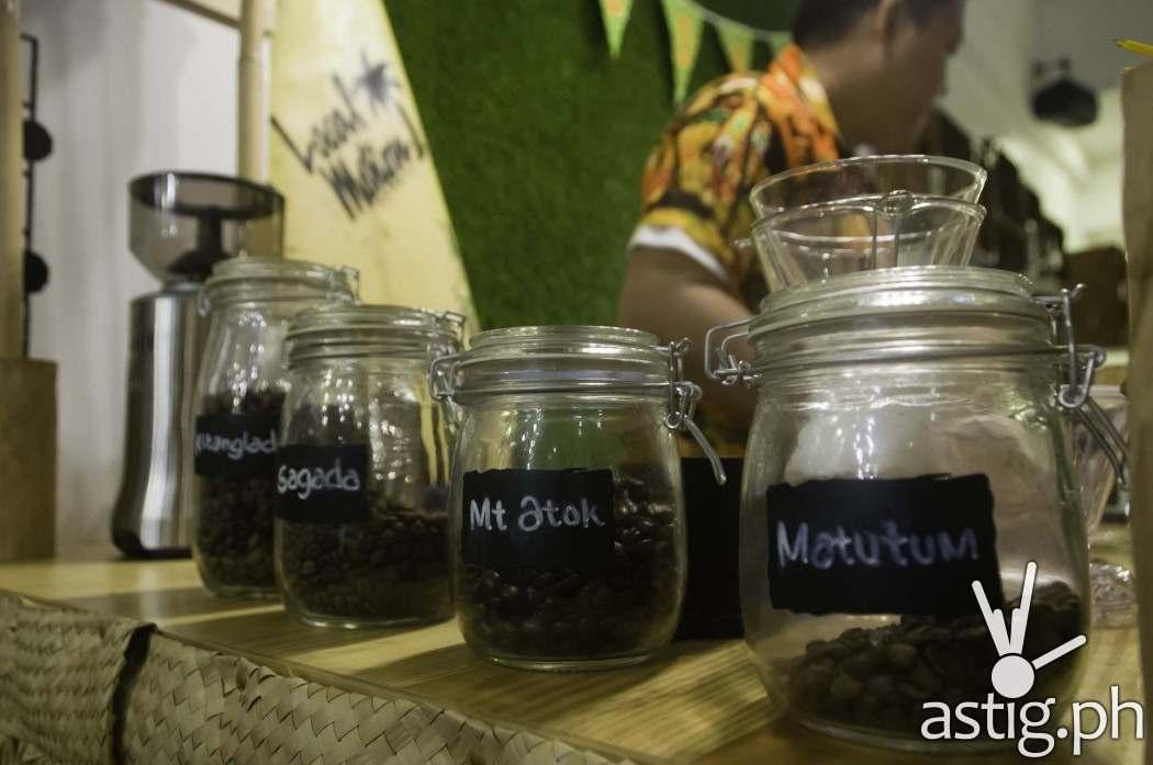 You can choose from four single origin coffees at Uke Box Caffee: Kitanglad, Sagada, Mt Atok, and Matutum