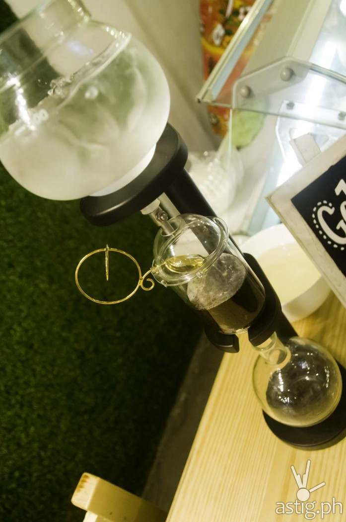 Cold Drip coffee making device at Uke Box Caffe