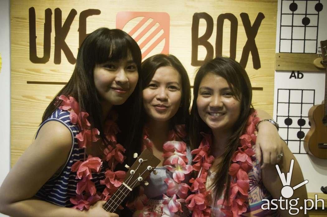 Uke Box Caffe founders Apple Alegro, Michelle See, and Celina Baraoidan