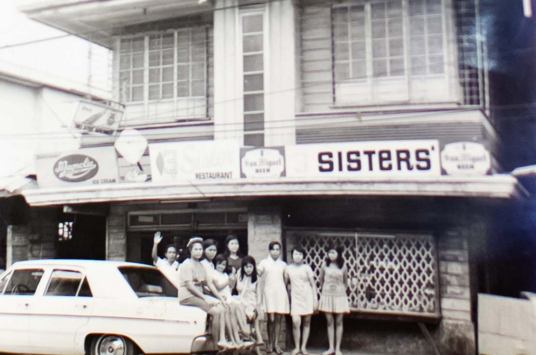 The Three Sister's Restaurant was originally called Three Sisters' Refreshment Parlor, named after a talcum powder brand in the 40s