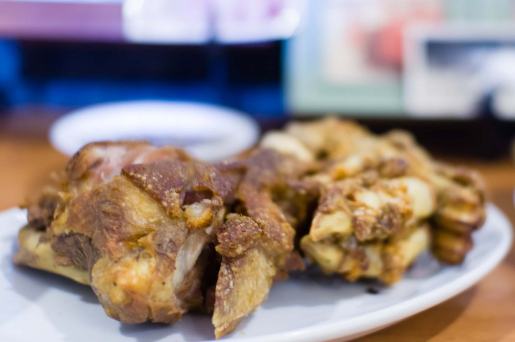 Crispy Pata with Kare-kare Sauce is the latest addition to the Three Sisters menu