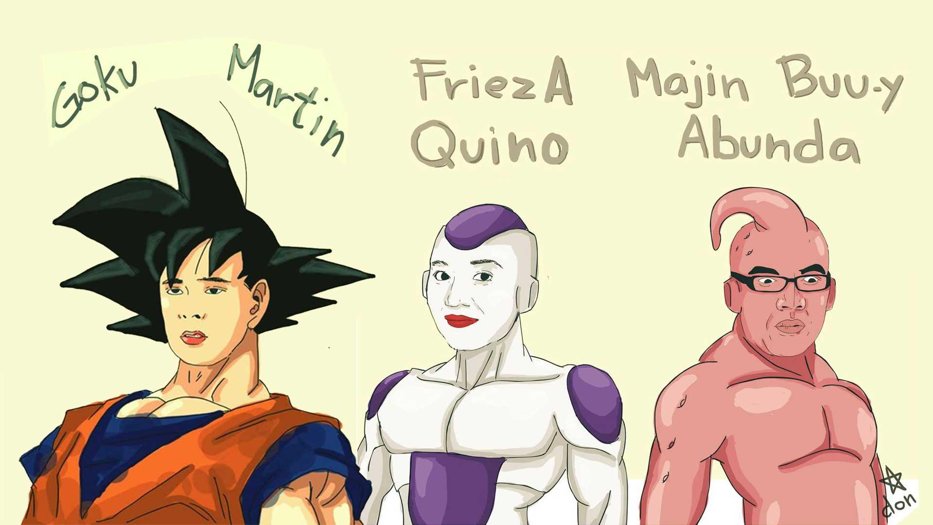 Goku Martin FriezA Quino Majin Buu-y Abunda