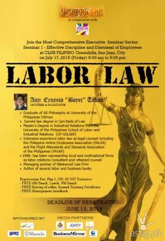 Labor Law Seminar by Westwood Law [event]