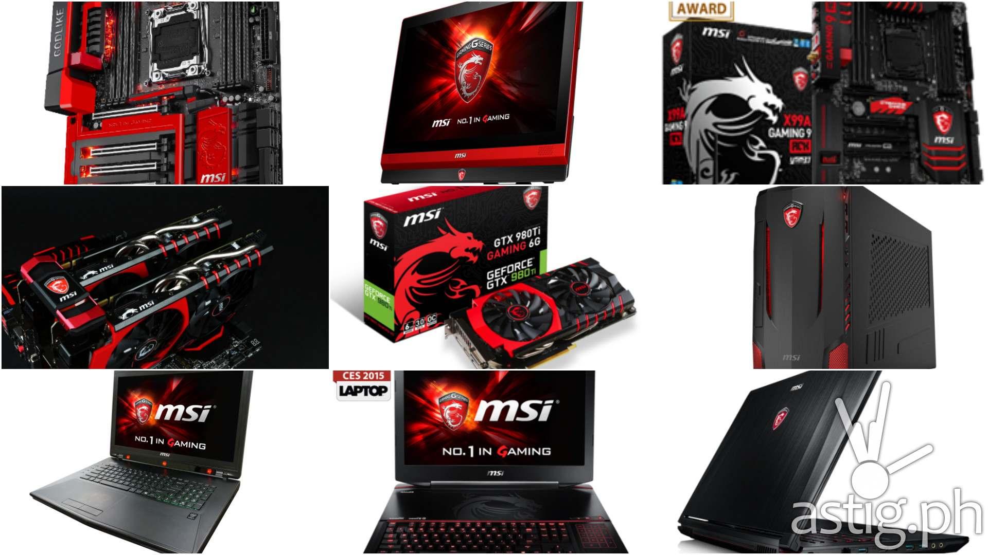 MSI Gaming hardware
