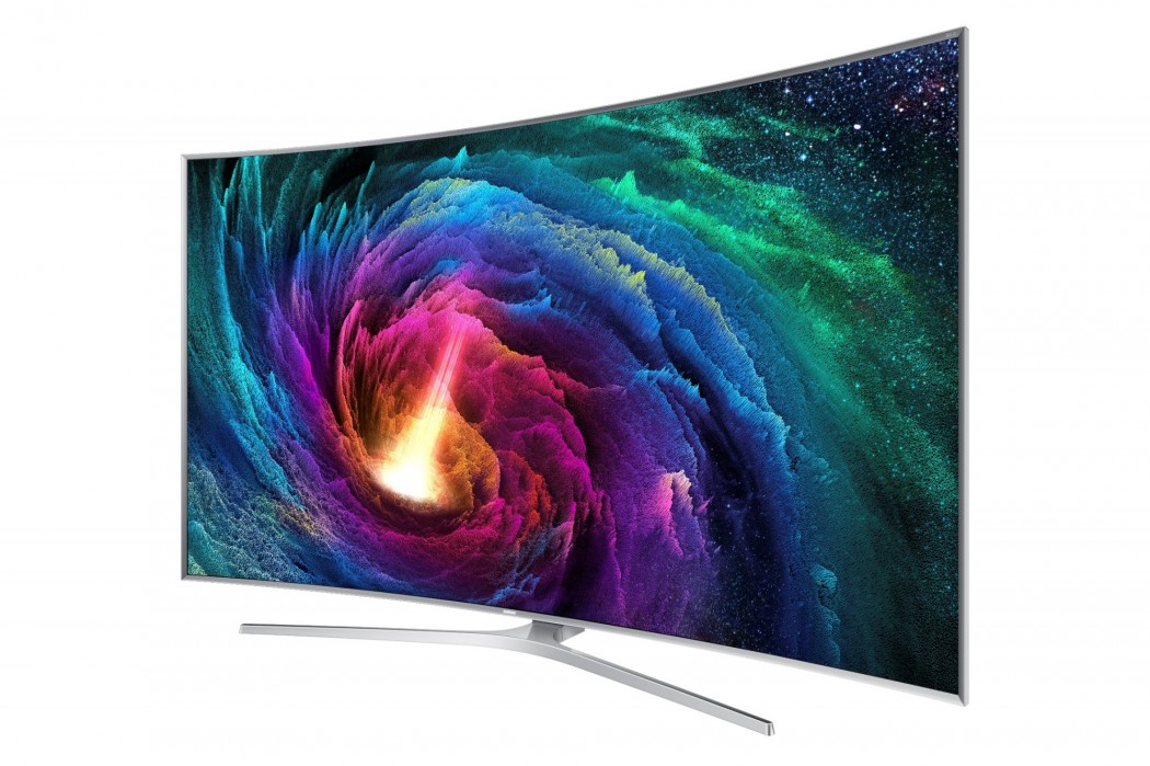 Samsung SUHD TV features a curved 4K display